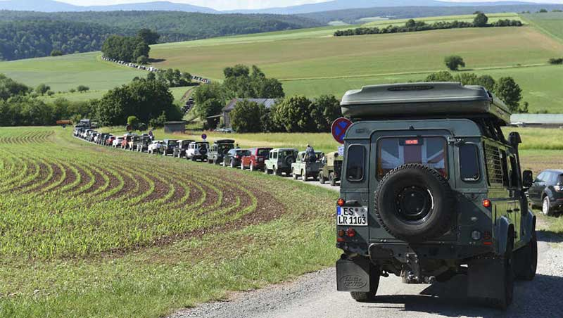 World Record Parade of Land Rovers